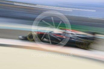 World © Octane Photographic Ltd. McLaren Honda MP4/30 - Jenson Button. Friday 27th November 2015, F1 Abu Dhabi Grand Prix, Practice 2, Yas Marina. Digital Ref: 1478CB7D2138