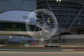 World © Octane Photographic Ltd. Mercedes AMG Petronas F1 W06 Hybrid – Nico Rosberg. Friday 27th November 2015, F1 Abu Dhabi Grand Prix, Practice 2, Yas Marina. Digital Ref: 1478LB5D4262