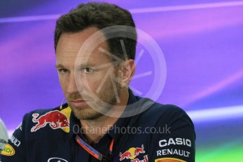 World © Octane Photographic Ltd.. Friday 27th November 2015, F1 Abu Dhabi Grand Prix, Team Personnel FIA Press Conference, Yas Marina. Christian Horner – Infiniti Red Bull Racing Team Principle. Digital Ref: 1480LB1D8180