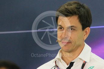 World © Octane Photographic Ltd.. Friday 27th November 2015, F1 Abu Dhabi Grand Prix, Team Personnel FIA Press Conference, Yas Marina. Toto Wolff – Mercedes AMG Petronas Executive Director. Digital Ref: 1480LB1D8214
