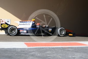 World © Octane Photographic Ltd. Friday 27th November 2015. Trident – Daniël de Jong. GP2 Practice, Yas Marina, Abu Dhabi. Digital Ref. : 1476CB7D1544