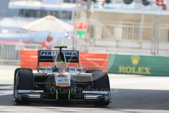 World © Octane Photographic Ltd. Friday 27th November 2015. Campos Racing – Rio Haryanto. GP2 Practice, Yas Marina, Abu Dhabi. Digital Ref. : 1476LB1D5724