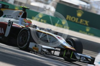 World © Octane Photographic Ltd. Friday 27th November 2015. Campos Racing – Rio Haryanto. GP2 Practice, Yas Marina, Abu Dhabi. Digital Ref. : 1476LB1D5947