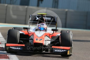 World © Octane Photographic Ltd. Friday 27th November 2015. MP Motorsport – Rene Binder. GP2 Practice, Yas Marina, Abu Dhabi. Spain. Digital Ref. : 1476LB1D6028
