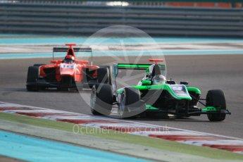 World © Octane Photographic Ltd. Friday 27th November 2015. Status Grand Prix – Sandy Stuvik and Arden International – Aleksander Bosak. GP3 Qualifying - Yas Marina, Abu Dhabi. Digital Ref. : 1479CB1L5443