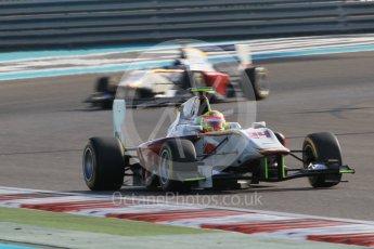 World © Octane Photographic Ltd. Friday 27th November 2015. Campos Racing – Alex Palou and Zaid Ashkanani. GP3 Qualifying - Yas Marina, Abu Dhabi. Digital Ref. : 1479CB1L5457
