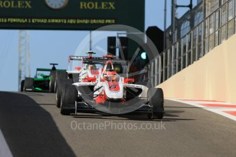 World © Octane Photographic Ltd. Friday 27th November 2015. ART Grand Prix – Esteban Ocon and Marvin Kirchhofer. GP3 Practice - Yas Marina, Abu Dhabi. Digital Ref. : 1475CB1L4510