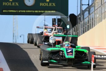 World © Octane Photographic Ltd. Friday 27th November 2015. Status Grand Prix – Seb Morris. GP3 Practice - Yas Marina, Abu Dhabi. Digital Ref. : 1475CB1L4519
