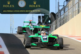 World © Octane Photographic Ltd. Friday 27th November 2015. Status Grand Prix – Alex Fontana and Sandy Stuvik. GP3 Practice - Yas Marina, Abu Dhabi. Digital Ref. : 1475CB1L4537