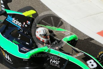 World © Octane Photographic Ltd. Friday 27th November 2015. Status Grand Prix – Alex Fontana. GP3 Practice - Yas Marina, Abu Dhabi. Digital Ref. : 1475CB1L4660