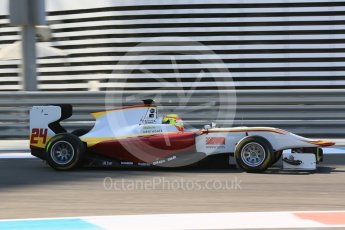 World © Octane Photographic Ltd. Friday 27th November 2015. Campos Racing – Alex Palou. GP3 Practice - Yas Marina, Abu Dhabi. Digital Ref. : 1475LB5D3884