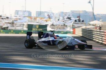 World © Octane Photographic Ltd. Friday 27th November 2015. Koiranen GP – Matevos Isaakyan. GP3 Practice - Yas Marina, Abu Dhabi. Digital Ref. : 1475LB5D3903