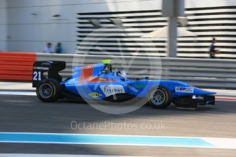 World © Octane Photographic Ltd. Friday 27th November 2015. Jenzer Motorsport – Matheo Tuscher. GP3 Practice - Yas Marina, Abu Dhabi. Digital Ref. : 1475LB5D3909