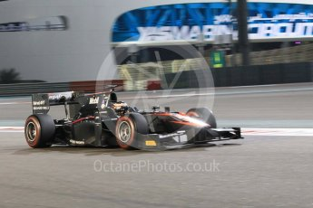 World © Octane Photographic Ltd. Friday 27th November 2015. ART Grand Prix – Stoffel Vandoorne. GP2 Qualifying, Yas Marina, Abu Dhabi. Digital Ref. : 1481CB1L6003