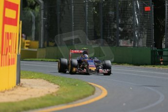 World © Octane Photographic Ltd. Scuderia Toro Rosso STR10 – Carlos Sainz Jnr. Friday 13th March 2015, F1 Australian GP Practice 1, Melbourne, Albert Park, Australia. Digital Ref: 1200LB1D5477