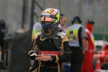World © Octane Photographic Ltd. Lotus F1 Team E23 Hybrid – Pastor Maldonado. Saturday 14th March 2015, F1 Australian GP Qualifying Parc Ferme, Melbourne, Albert Park, Australia. Digital Ref: 1206LB1D8080