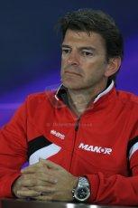World © Octane Photographic Ltd. Manor Marussia F1 Team – Graham Lowden - Chief Executive Officer (CEO). Friday 13th March 2015, F1 Australian GP FIA Team Boss Press Conference, Melbourne, Albert Park, Australia. Digital Ref: 1202LB1D6441