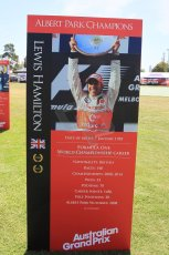 World © Octane Photographic Ltd. Wednesday 11th March 2015, F1 Australian GP, Melbourne, Albert Park, Australia, Lewis Hamilton. Digital Ref: 1197LW1L5572