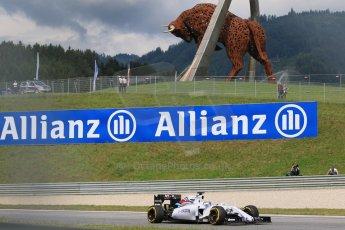World © Octane Photographic Ltd. Williams Martini Racing FW37 – Felipe Massa. Friday 19th June 2015, F1 Austrian GP Practice 1, Red Bull Ring, Spielberg, Austria. Digital Ref: 1304CB7D3180