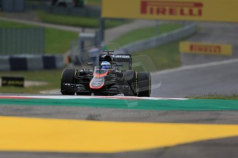 World © Octane Photographic Ltd. McLaren Honda MP4/30 – Fernando Alonso. Friday 19th June 2015, F1 Austrian GP Practice 1, Red Bull Ring, Spielberg, Austria. Digital Ref: 1304LB1D5195