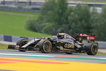 World © Octane Photographic Ltd. Lotus F1 Team E23 Hybrid Reserve Driver – Jolyon Palmer. Friday 19th June 2015, F1 Austrian GP Practice 1, Red Bull Ring, Spielberg, Austria. Digital Ref: 1304LB1D5240