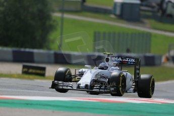 World © Octane Photographic Ltd. Williams Martini Racing FW37 – Valtteri Bottas. Friday 19th June 2015, F1 Austrian GP Practice 1, Red Bull Ring, Spielberg, Austria. Digital Ref: 1304LB1D5289