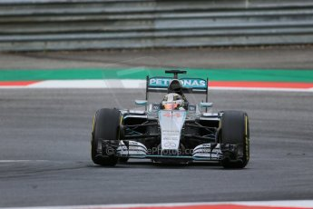 World © Octane Photographic Ltd. Mercedes AMG Petronas F1 W06 Hybrid – Lewis Hamilton. Friday 19th June 2015, F1 Austrian GP Practice 1, Red Bull Ring, Spielberg, Austria. Digital Ref: 1304LB1D5584