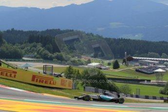 World © Octane Photographic Ltd. Mercedes AMG Petronas F1 W06 Hybrid – Lewis Hamilton. Friday 19th June 2015, F1 Austrian GP Practice 1, Red Bull Ring, Spielberg, Austria. Digital Ref: 1304LW1L2532