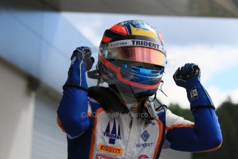 World © Octane Photographic Ltd. Sunday 21st June 2015. Trident – Oscar Tunjo. GP3 Race 2 – Red Bull Ring, Spielberg, Austria. Digital Ref. : 1316CB7D6881