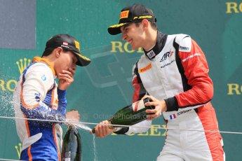 World © Octane Photographic Ltd. Sunday 21st June 2015. ART Grand Prix – Esteban Ocon (3rd - later disqualified) and Trident – Oscar Tunjo (1st). GP3 Race 2 – Red Bull Ring, Spielberg, Austria. Digital Ref. : 1316CB7D7015