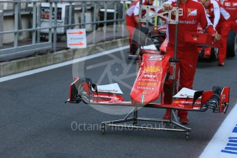 World © Octane Photographic Ltd. Scuderia Ferrari SF15-T nose– Sebastian Vettel. Friday 21st August 2015, F1 Belgian GP Pitlane, Spa-Francorchamps, Belgium. Digital Ref: 1379LB1D7438