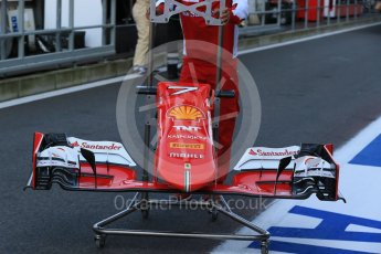 World © Octane Photographic Ltd. Scuderia Ferrari SF15-T nose – Kimi Raikkonen. Friday 21st August 2015, F1 Belgian GP Pitlane, Spa-Francorchamps, Belgium. Digital Ref: 1379LB1D7469