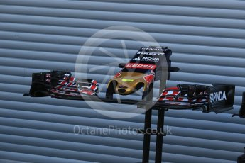 World © Octane Photographic Ltd. Scuderia Toro Rosso STR10 nose – Carlos Sainz Jnr. Friday 21st August 2015, F1 Belgian GP Pitlane, Spa-Francorchamps, Belgium. Digital Ref: 1379LB1D7527