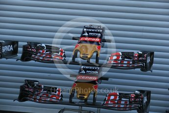 World © Octane Photographic Ltd. Scuderia Toro Rosso STR10 noses. Friday 21st August 2015, F1 Belgian GP Pitlane, Spa-Francorchamps, Belgium. Digital Ref: 1379LB1D7528