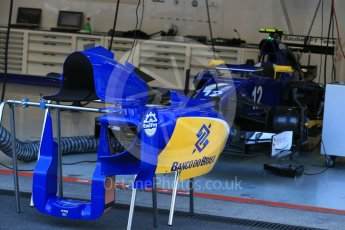 World © Octane Photographic Ltd. Sauber F1 Team C34-Ferrari bodywork – Felipe Nasr. Friday 21st August 2015, F1 Belgian GP Pitlane, Spa-Francorchamps, Belgium. Digital Ref: 1379LB1D7556