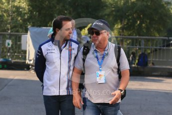 World © Octane Photographic Ltd. Williams Martini Racing FW37 – Felipe Massa and father Luis Antonio Massa. Friday 21st August 2015, F1 Belgian GP Paddock, Spa-Francorchamps, Belgium. Digital Ref: 1379LB1D7596