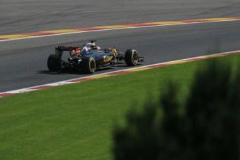 World © Octane Photographic Ltd. Lotus F1 Team E23 Hybrid – Romain Grosjean. Saturday 22nd August 2015, F1 Belgian GP Qualifying, Spa-Francorchamps, Belgium. Digital Ref: 1382LB1D0545