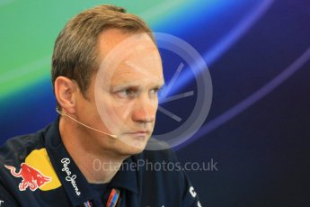 World © Octane Photographic Ltd. FIA Team Personnel Press Conference. Friday 21st August 2015, F1 Belgian GP, Spa-Francorchamps, Belgium. Paul Monaghan - Infinity Red Bull Racing Chief Engineer - Car Engineering. Digital Ref: 1377LB1D8716