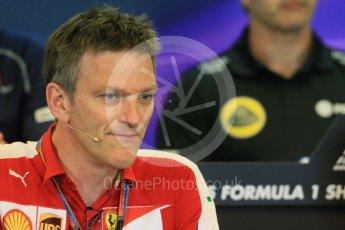 World © Octane Photographic Ltd. FIA Team Personnel Press Conference. Friday 21st August 2015, F1 Belgian GP, Spa-Francorchamps, Belgium. James Allison - Scuderia Ferrari Technical Director. Digital Ref: 1377LB1D8773