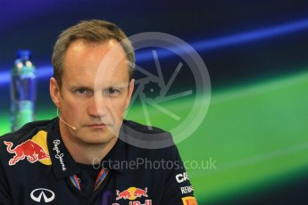 World © Octane Photographic Ltd. FIA Team Personnel Press Conference. Friday 21st August 2015, F1 Belgian GP, Spa-Francorchamps, Belgium. Paul Monaghan - Infinity Red Bull Racing Chief Engineer - Car Engineering. Digital Ref: 1377LB1D8778