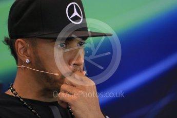 World © Octane Photographic Ltd. FIA Drivers' Press Conference. Thursday 23rd July 2015, F1 Belgian GP, Spa-Francorchamps, Belgium. Lewis Hamilton – Mercedes AMG Petronas. Digital Ref: 1371LB1D7168