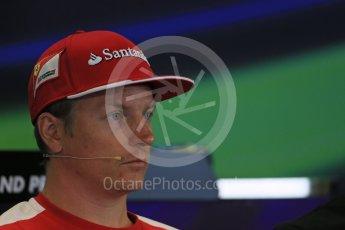 World © Octane Photographic Ltd. FIA Drivers' Press Conference. Thursday 23rd July 2015, F1 Belgian GP, Spa-Francorchamps, Belgium. Kimi Raikkonen – Scuderia Ferrari. Digital Ref: 1371LB1D7283