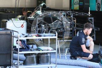World © Octane Photographic Ltd. Mercedes AMG Petronas F1 W06 Hybrid – Nico Rosberg. Thursday 20th August 2015, F1 Belgian GP Pitlane, Spa-Francorchamps, Belgium. Digital Ref: 1370LB1D6707