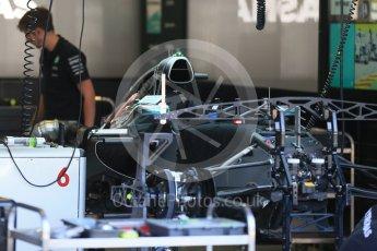 World © Octane Photographic Ltd. Mercedes AMG Petronas F1 W06 Hybrid – Nico Rosberg. Thursday 20th August 2015, F1 Belgian GP Pitlane, Spa-Francorchamps, Belgium. Digital Ref: 1370LB1D6710