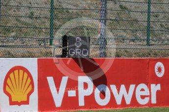 World © Octane Photographic Ltd. Electronic grid position boards. Thursday 20th August 2015, F1 Belgian GP grid, Spa-Francorchamps, Belgium. Digital Ref: 1370LB1D6762