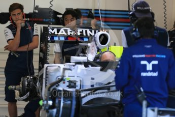 World © Octane Photographic Ltd. Williams Martini Racing FW37 – Valtteri Bottas. Thursday 20th August 2015, F1 Belgian GP Pitlane, Spa-Francorchamps, Belgium. Digital Ref: 1370LB1D6775