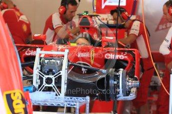 World © Octane Photographic Ltd. Scuderia Ferrari SF15-T– Sebastian Vettel. Thursday 20th August 2015, F1 Belgian GP Pitlane, Spa-Francorchamps, Belgium. Digital Ref: 1370LB1D6838