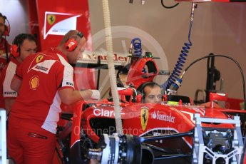 World © Octane Photographic Ltd. Scuderia Ferrari SF15-T– Kimi Raikkonen. Thursday 20th August 2015, F1 Belgian GP Pitlane, Spa-Francorchamps, Belgium. Digital Ref: 1370LB1D6864