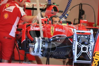 World © Octane Photographic Ltd. Scuderia Ferrari SF15-T– Kimi Raikkonen. Thursday 20th August 2015, F1 Belgian GP Pitlane, Spa-Francorchamps, Belgium. Digital Ref: 1370LB1D6872