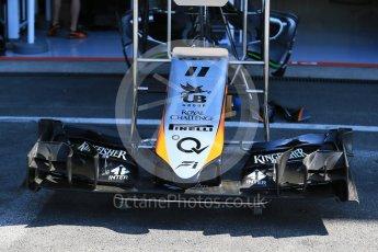 World © Octane Photographic Ltd. Sahara Force India VJM08B. Thursday 20th August 2015, F1 Belgian GP Pitlane, Spa-Francorchamps, Belgium. Digital Ref: 1370LB1D6949